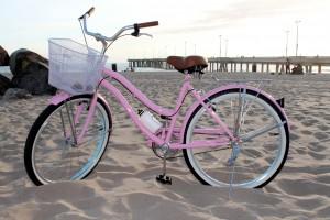 Pink-beach-cruiser-bicycle